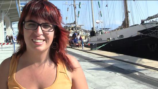Laura Arau, activista de Rumbo a Gaza