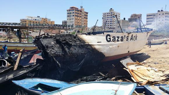 El Arca de Gaza fue atacada deliberadamente por Israel