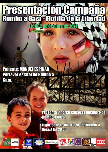 Comienzan las presentaciones de Rumbo a Gaza en el País Valencià
