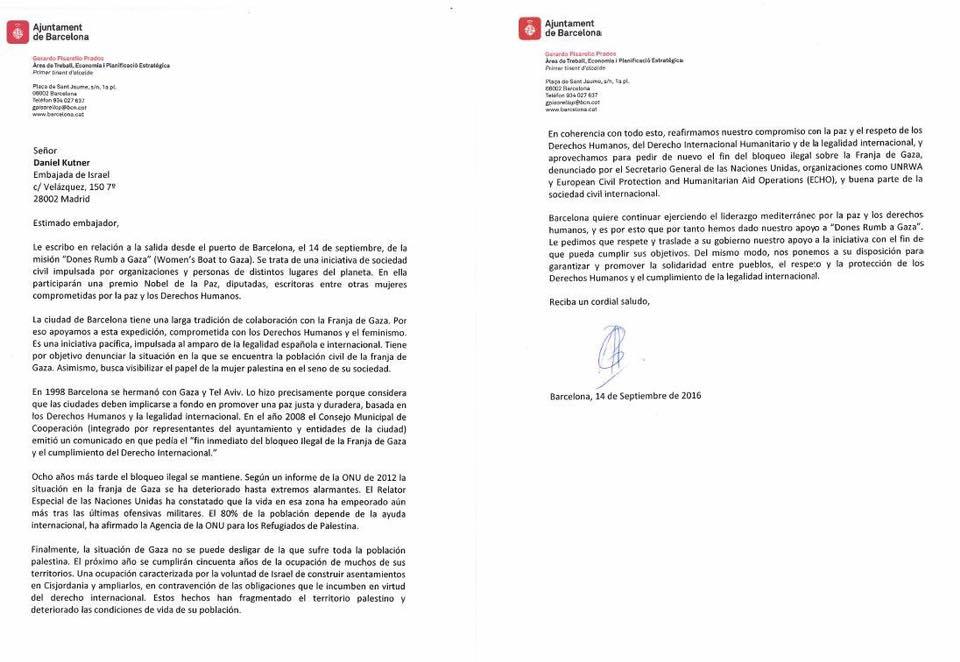 carta ayuntamiento barcelona