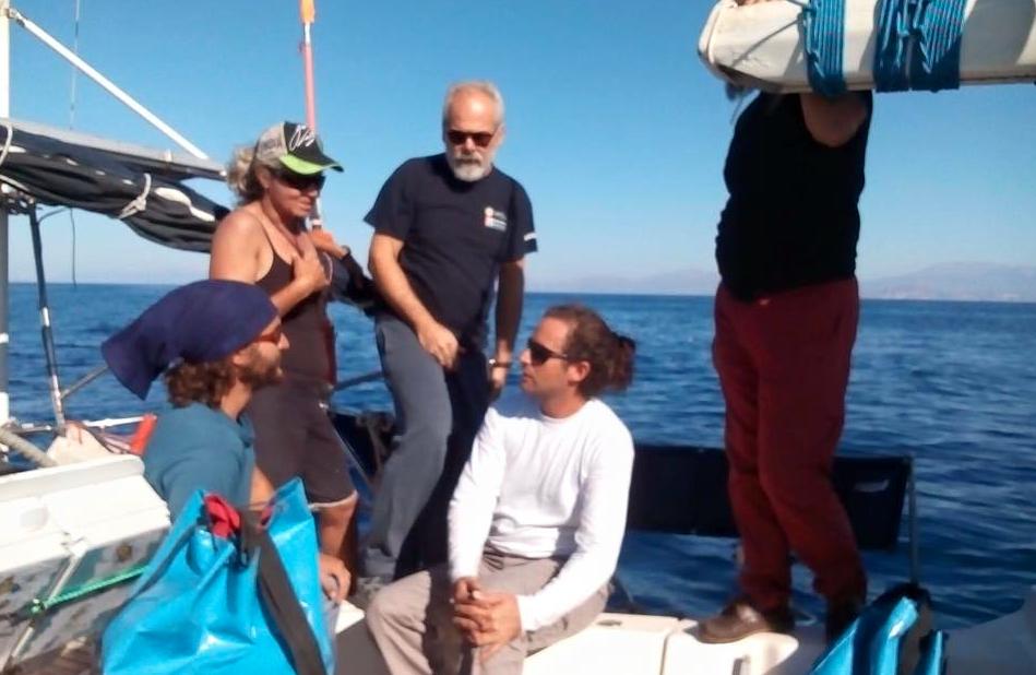 Visita barco griego en Creta
