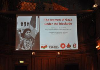 El Parlamento sueco escucha a las mujeres de la Flotilla de la Libertad
