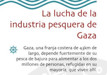 """Tríptico """"Solidaridad con los pescadores de Gaza"""" para difundir la campaña"""