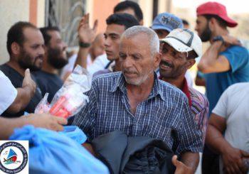 La coalición de la Flotilla de la libertad entrega material a más de 400 pescadores de Gaza
