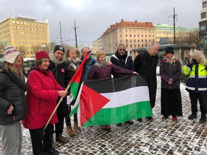 Representantes de las diferentes campañas de la Flotilla de la Libertad reunidos en Gotemburgo