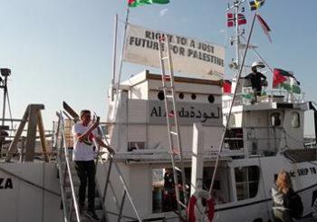 La Flotilla de la Libertad llega al puerto de Copenhague rumbo a Gaza