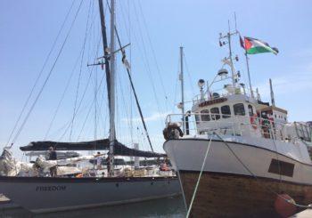Consuelo Ruiz-Jarabo y Joe Boeta embarcan en la Flotilla de la Libertad