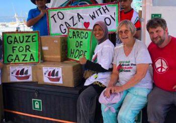 La Flotilla de la Libertad exige la entrega inmediata de la carga humanitaria