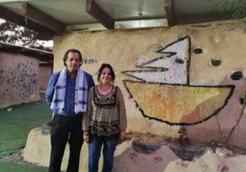 Una delegación española en Palestina visita Khan al Ahmar