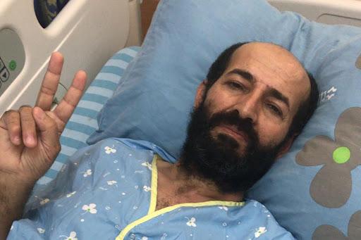 Maher al-Akhras preso palestino en huelga de hambre